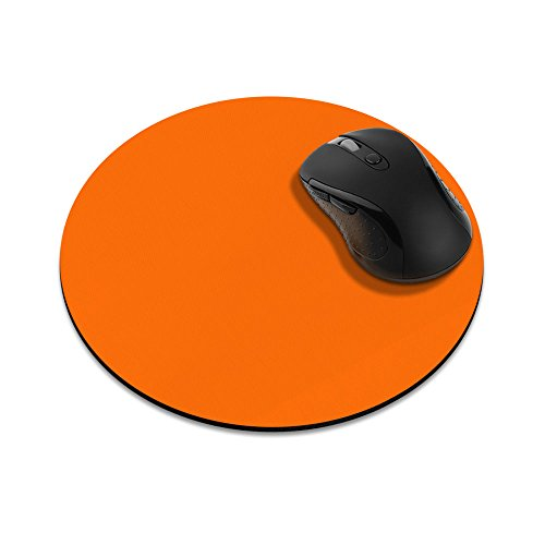 - Non-Slip Round Mousepad, FINCIBO Solid Neon Fluorescent Orange Mouse Pad for Home, Office and Gaming Desk