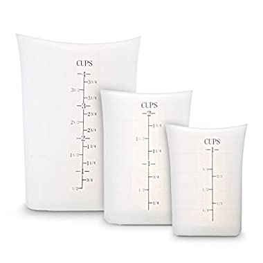 Organix Flexible Measuring Cups - Heat Resistant Silicone - Set of 3