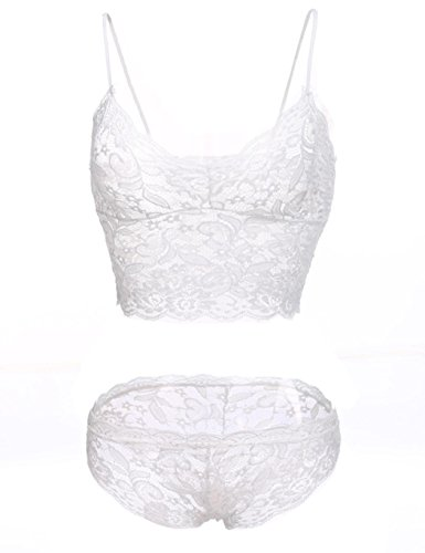 Imposes Women's Sexy Lace Bra and Panty Set Longline Bra Lingerie ()