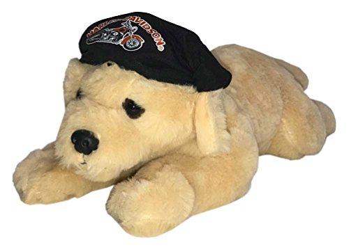 Harley-Davidson Freedom 14 in. Retriever Cuddle Bud Dog, Tan & Black 9950857