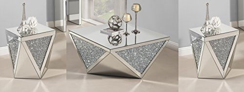 Best Quality Furniture CT50-51-51 Crystal Coffee Table Set
