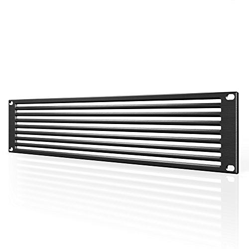 "AC Infinity Rack Panel Accessory Vent 2U Space for 19"" Rackmount, Premium Aluminum Build and Anodized Finish"