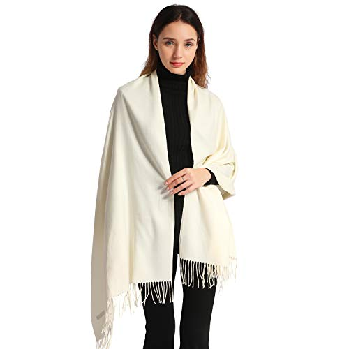 - Women Cashmere Scarf Soft Pashmina Scarves Large Stylish Warm Blanket Solid Winter Shawl Elegant Wrap 78.5