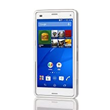 Sony Xperia Z3 Compact Case, Luxury Metal Aluminum Push Pull Bumper Frame Case for Sony Xperia Z3 Compact (Silver)