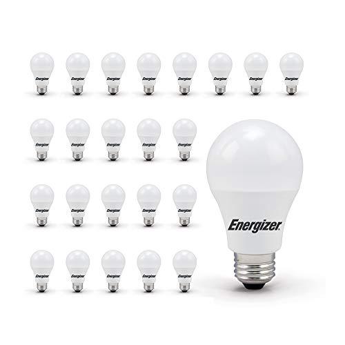 Energizer Light Bulbs A19 60 Watt Equivalent LED Light Bulb, 24-Pack, Daylight (Non-Dimmable)