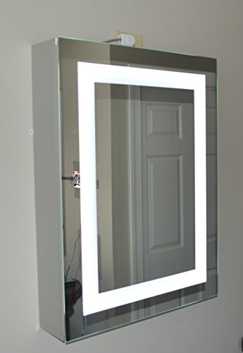 Lighted Medicine Cabinet - 24''w x 32''t - lighted door - commercial grade by Mirrors and Marble