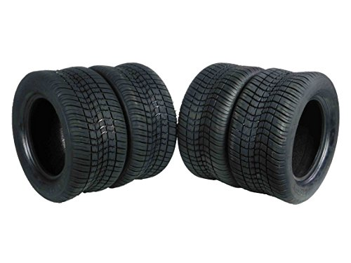 - MASSFX SL2055010(x4) 4 PLY Golf Cart Turf Tires 205/50-10, Set of four (4) Tires