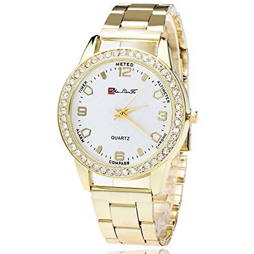 Reloj de Pulsera Mujer, Pulsera de Reloj análogo de Pulsera de Diamante Impermeable con Movimientos