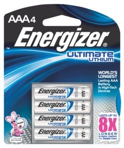 Energizer(R) Photo Ultimate Lithium AAA Batteries, Pack Of 4