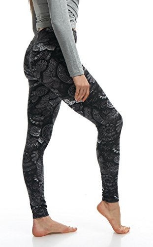 LMB Lush Moda Extra Soft Leggings with Designs- 505YF Floral Abstract Yoga by LMB (Image #3)