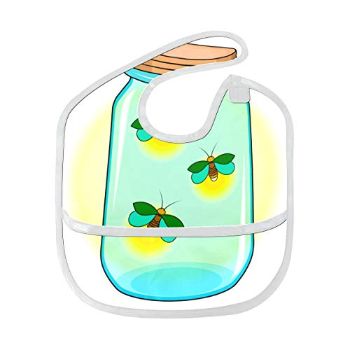Firefly Insect Flying Light Custom Soft Waterproof Washable Stain And Odor Resistant Baby Feeding Dribble Drool Bibs Burp Cloths For Infant Overall For 6-24 Months Kids Gifts -