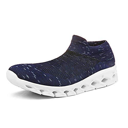 Mens Womens Ultra-Light Breathable Mesh Walking Shoes Non-Slip Sports Running Shoes. Blue3/Women 13 US?Men 10 US