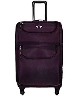 6e572ea2e02 Polo House USA Polyester Maroon Soft Sided Suitcase & Trolley Bag ...