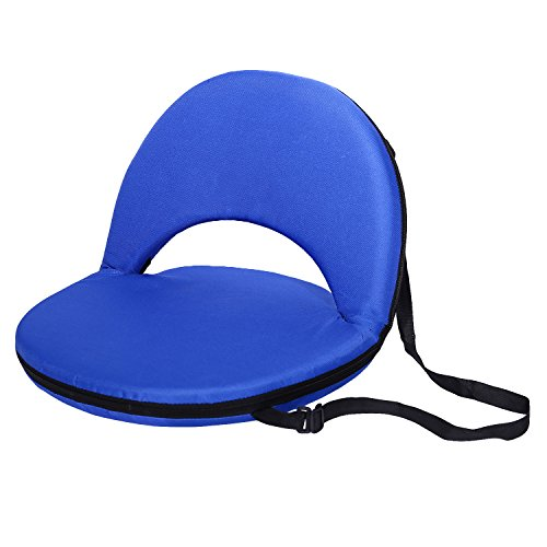 Victoria Young Stadium Seat Portable Stadium Chairs Padded Backrest and Cushion, Blue