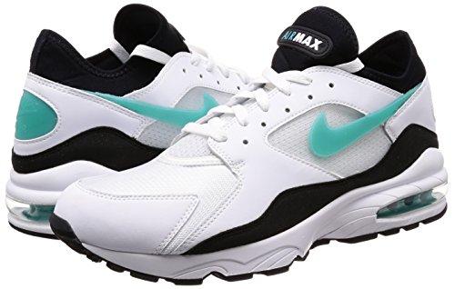 Sport Pelle In Scarpe black 107 Air 306551 Nike 93 White Turq Uomo Sneakers Bianca Max cwB1cyfST