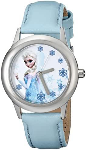 Disney Kids' W000971 Frozen Tween Snow Queen Elsa Watch with Blue Band