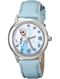 Kids' W000971 Frozen Tween Snow Queen Elsa Watch with Blue Band