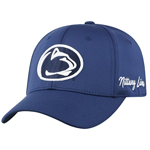 Top of the World NCAA Penn State Nittany Lions Phenom Memory Fit 1fit Hat, Navy, Adjustable