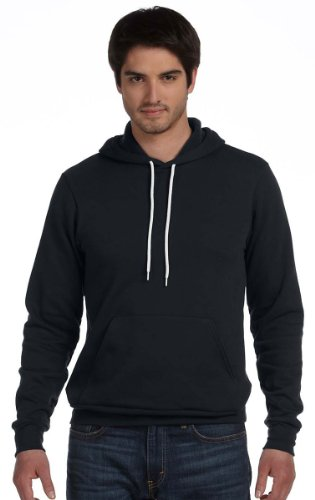 Bella Hooded Pullover (Bella + Canvas Unisex Poly-Cotton Fleece Pullover Hoodie (Black) (M))