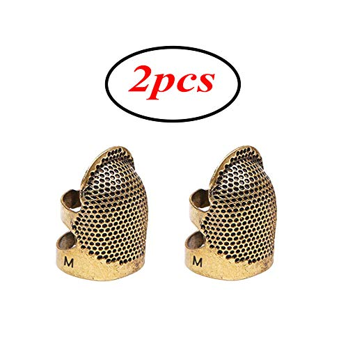Discover Bargain (2pcs)Sewing Thimble Finger Protector, Adjustable Finger Metal Shield Protector...