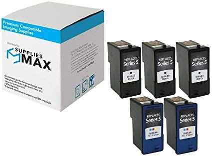 3B2C962 3-Black//2-Color SuppliesMAX Compatible Replacement for Dell A922//924//942//944//946//962//964 Inkjet Combo Pack Series 5