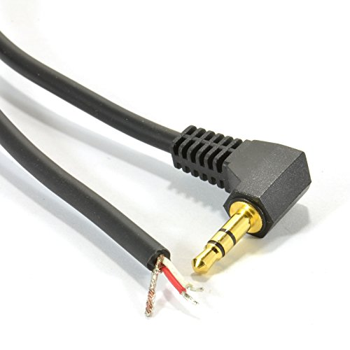 (Kenable 3.5mm Stereo Jack Plug to 3 Pole Solder Bare Wire End Gold 2m (~6 feet))