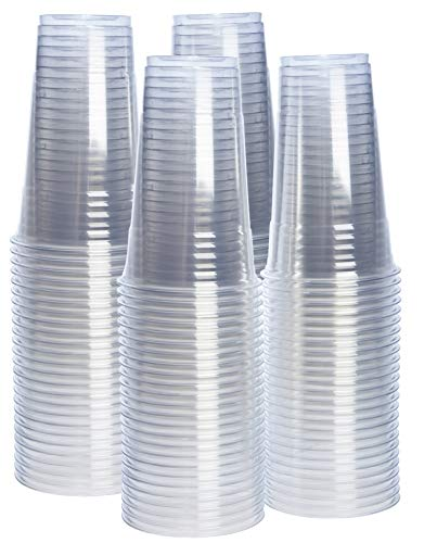 [100 Pack - 24 oz.] Crystal Clear PET Plastic Cups