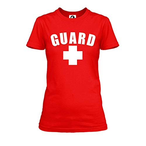 Womens Guard T-Shirt (Red, Large)
