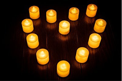 Flameless Realistic Candles LED Tea Lights Pack of 24 Bright - Flickering - Battery Powered Fake Candles - Unscented Tealights -Long Lasting Battery - CMR Technology - Cmr Led
