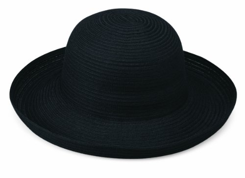 Wallaroo Women's Sydney Sun Hat, Packable, Black