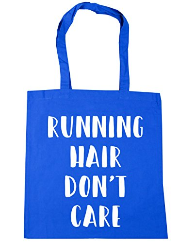 HippoWarehouse Don 't care de pelo de running bolsa de la compra bolsa de playa 42cm x38cm, 10litros Azul Aciano