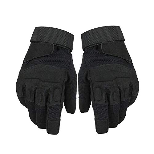 TOPTETN Army Tactical Gloves Outdoor Full Finger - Excellent Dexterity Grip - Light Weight Police Military Tactical Gloves - Reinforced Protection Paintball, Airsoft Motorc (Black, M)