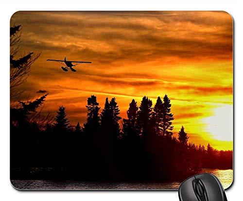 Mouse Pad - Seaplane Sunset Trees Landscape Colors Evening