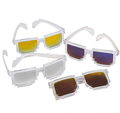 PIXEL MIRROR SUNGLASSES, Case of 156 by DollarItemDirect
