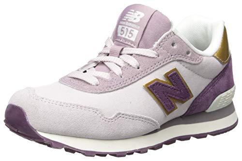 New Balance Girls' 515v1 Sneaker, Cashmere/Black Currant, 3.5 M US Big Kid ()
