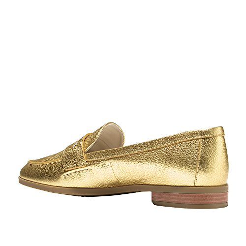 Loafer Metallic Flat Cole Haan Pinch Women's Gold Grand Penny nXWUn