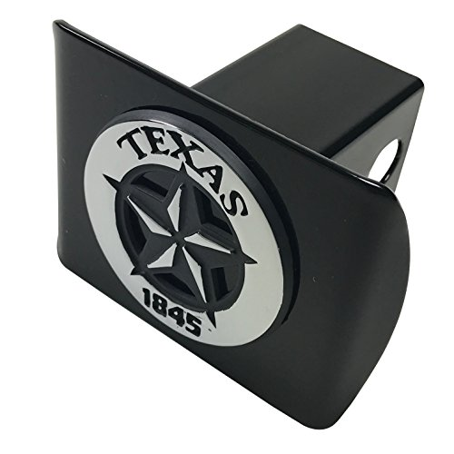 (AMG Texas State Star 1845 METAL Emblem on Black METAL Hitch)