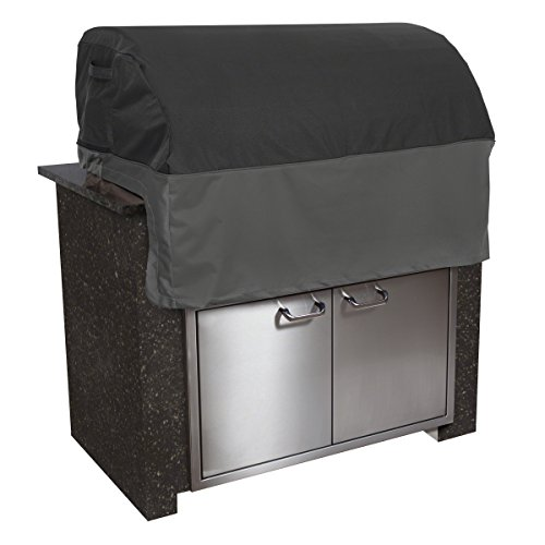Classic Accessories 55-501-020401-EC Veranda FadeSafe Built-In Grill Cover, Small, Black Built In Barbeque Grills