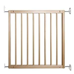 Baby Dan Flexi Wood- Puerta de seguridad para niños, ideal para huecos e 69 a 106,5 madera de haya