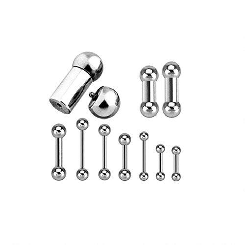 - Internal Threaded Barbell 316L Surgical Steel 16GA 14GA 12GA 10GA 8GA 6GA 4GA 2GA 0GA 00GA