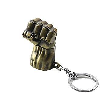 Inestimable Collection Puño de Bronce Llavero Hulk: Amazon ...
