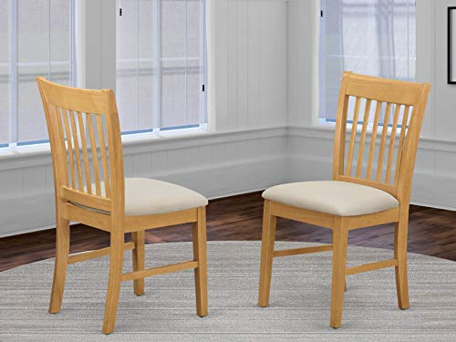Norfolk kitchen dining chair with Cushion Seat  -Oak Finish. (Side Dining Chairs Oak)