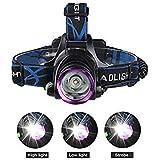 Lanterna de Cabeça Led Cree com Zoom em Aluminio Policial Regulavel com Sos Recarregavel