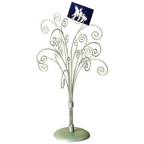 amazon com 16 silver toned photo tree jewelry holder home kitchen
