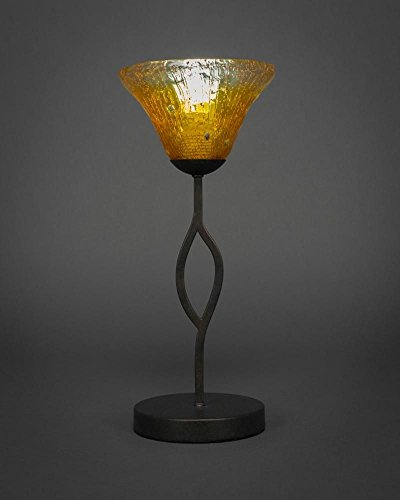 Cone Shade Glass - Mini Table Lamp with Gold Champagne Crystal Glass Shade