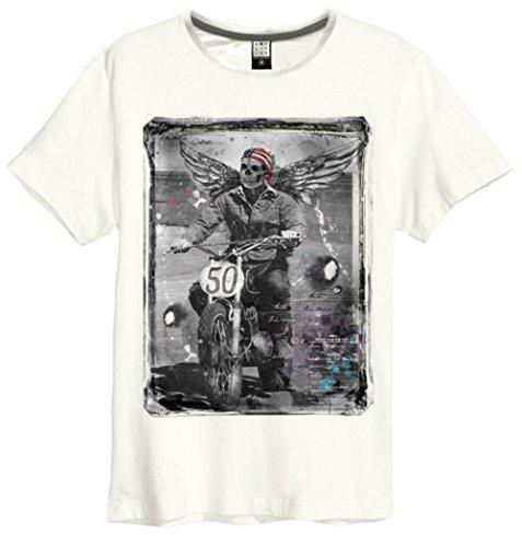 Amplified Winged Biker T-Shirt (XXL, white)