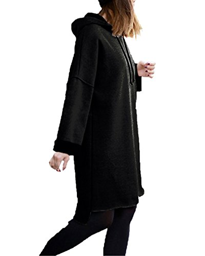 Women Fashion Casual Hooded Long Sleeve Solid Pullover Hoodie - 3