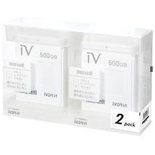 マクセル iVDR-S規格対応リムーバブルハードディスク 500GB×2個パック(ホワイト)maxell カセットハードディスク「iV(アイヴィ)」 M-VDRS500G.E.WH2P B00L379QI6