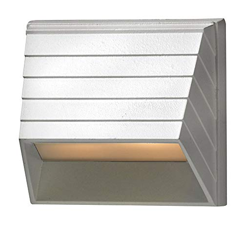 Hinkley Landscape Lighting Square Deck Sconce - Add Security to Outdoor Spaces with Ultra-Durable Deck Lights, 12-Volt, Matte White Finish, 7w T-5 Light Bulb Included, 1524MW