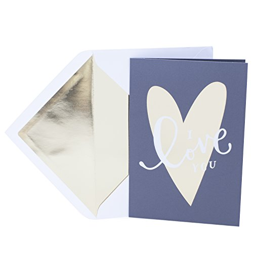 Hallmark Valentine's Day Greeting Card for Romantic Partner (Large Gold Foil Heart)